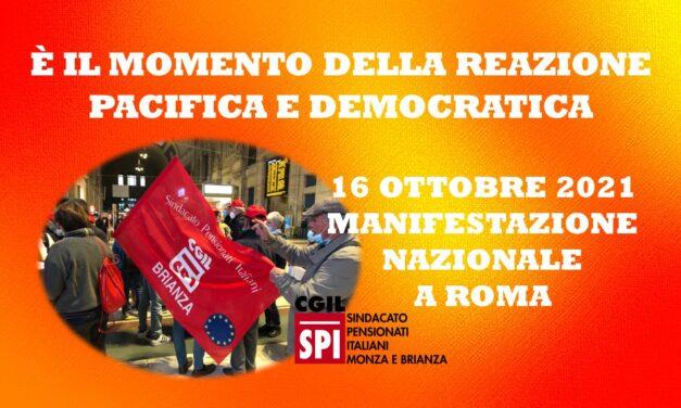 LA BRIANZA ALLA MANIFESTAZIONE NAZIONALE A ROMA